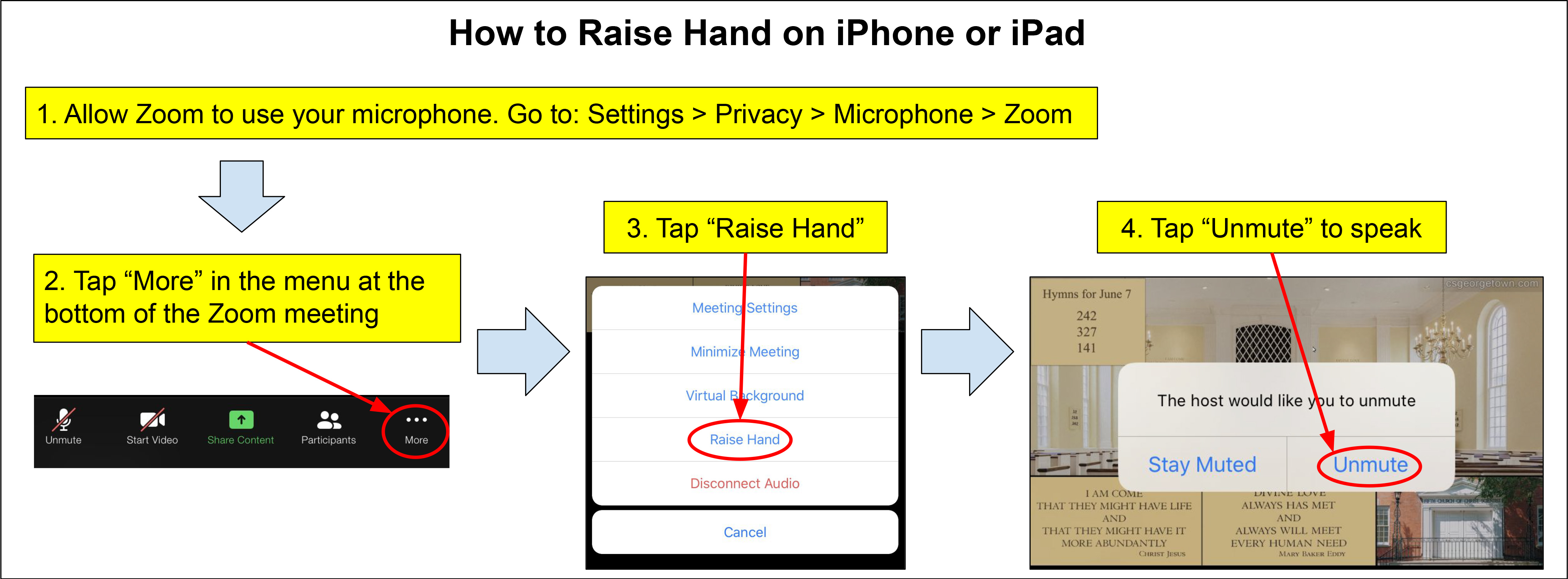 How to raise hand in Zoom using and iPad or iPhone