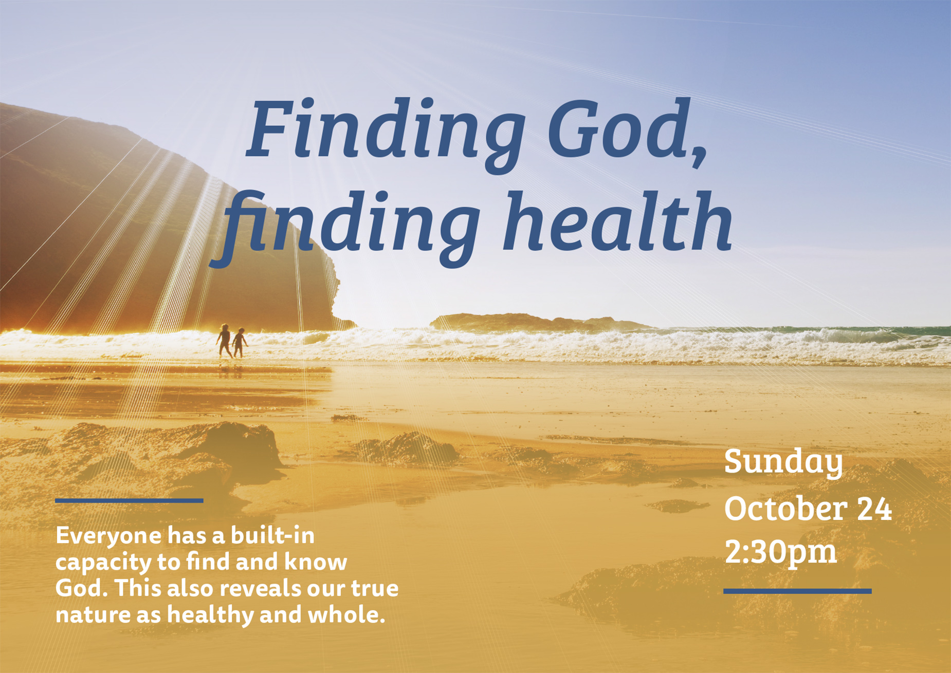 Finding God, finding health